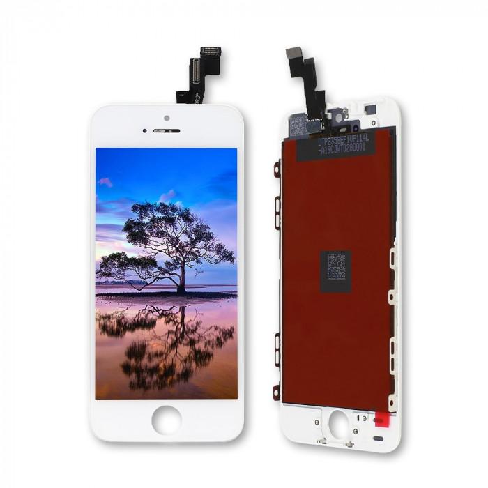 Дисплей (экран) iPhone 5S + тачскрин, цвет белый 2CAN